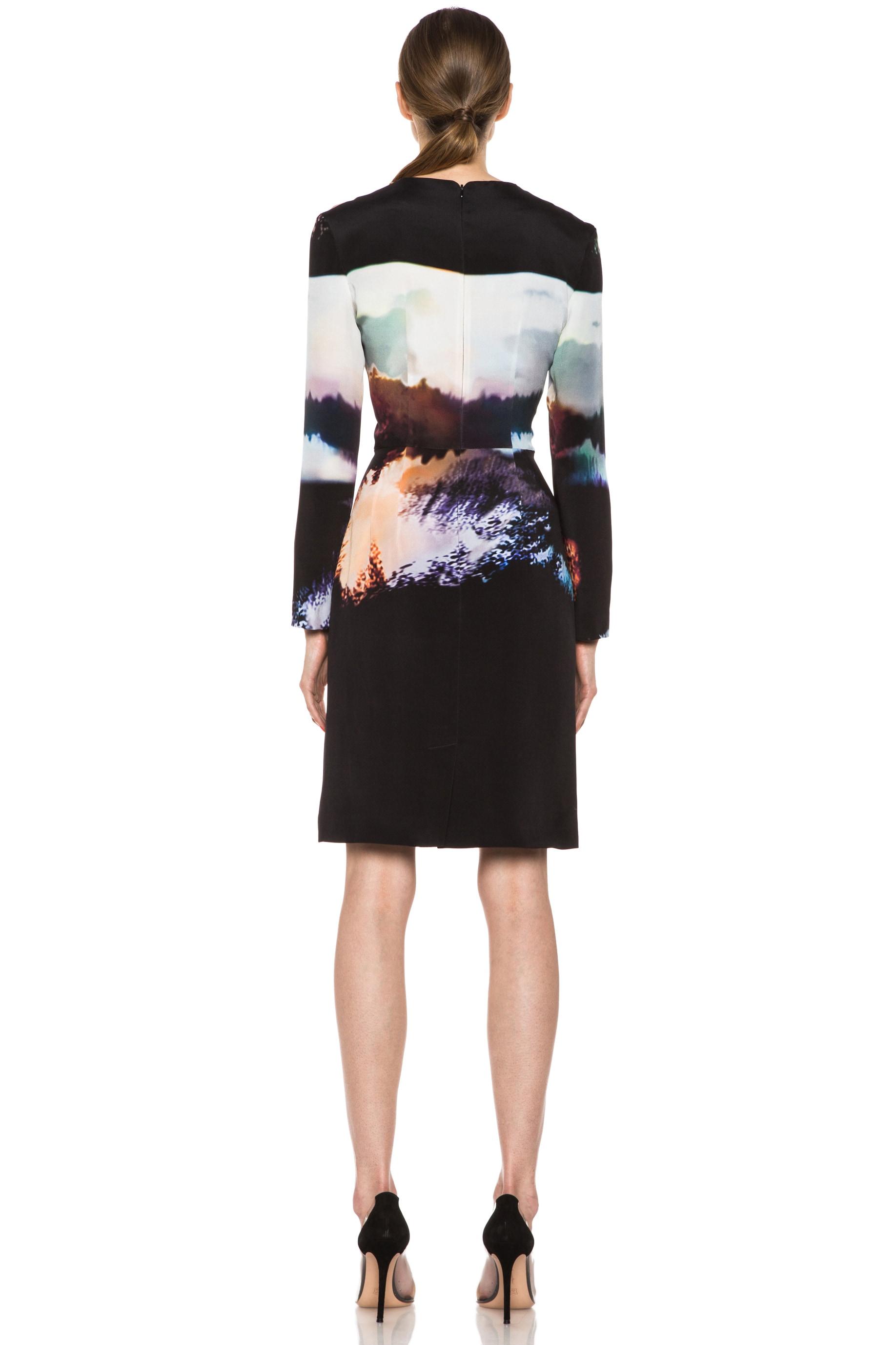 Image 4 of Mary Katrantzou Silk Dress in Woodstock Sunset