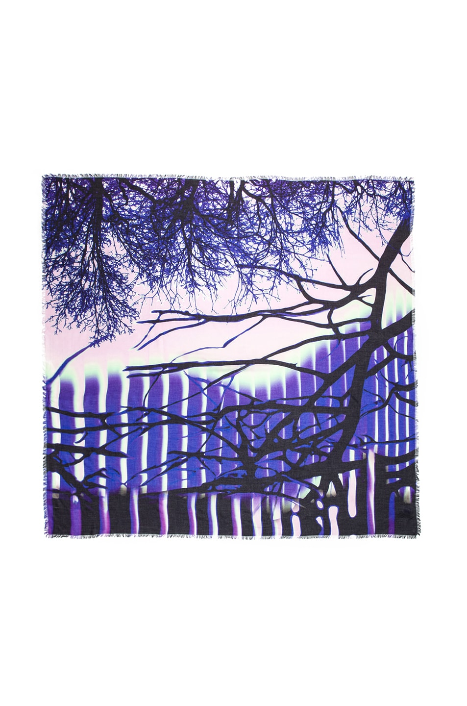 Image 1 of Mary Katrantzou Modal & Cashmere Scarf in Zen Purple