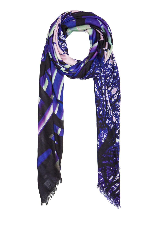 Image 2 of Mary Katrantzou Modal & Cashmere Scarf in Zen Purple