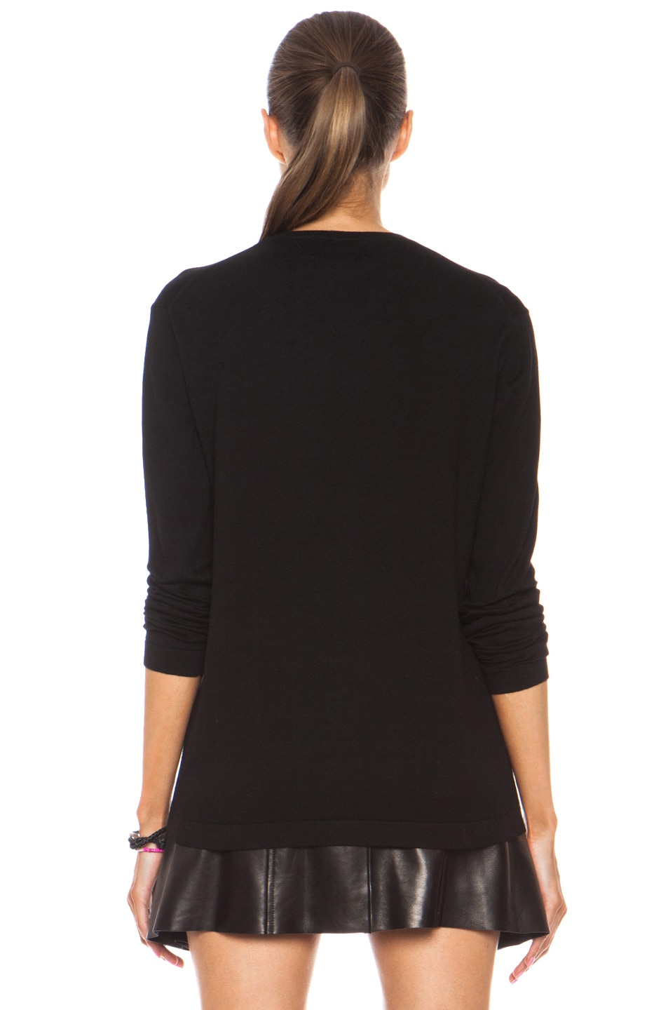 Image 4 of Markus Lupfer Neon Dip Lara Lip Knit Jumper in Black