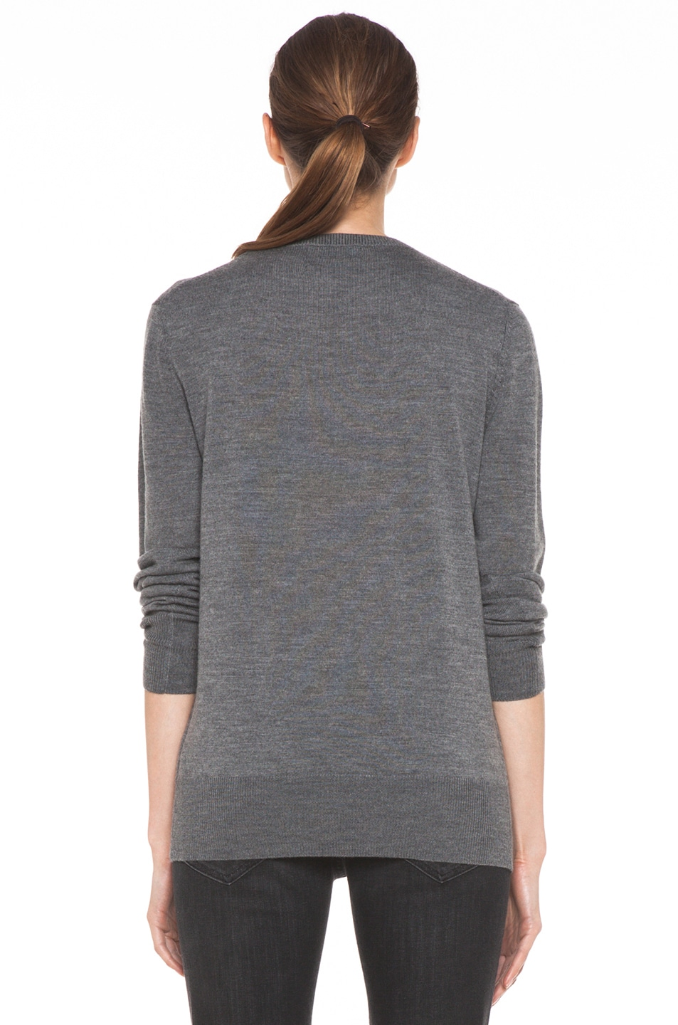Image 4 of Markus Lupfer Pop! Sequin Jumper in Medium Grey