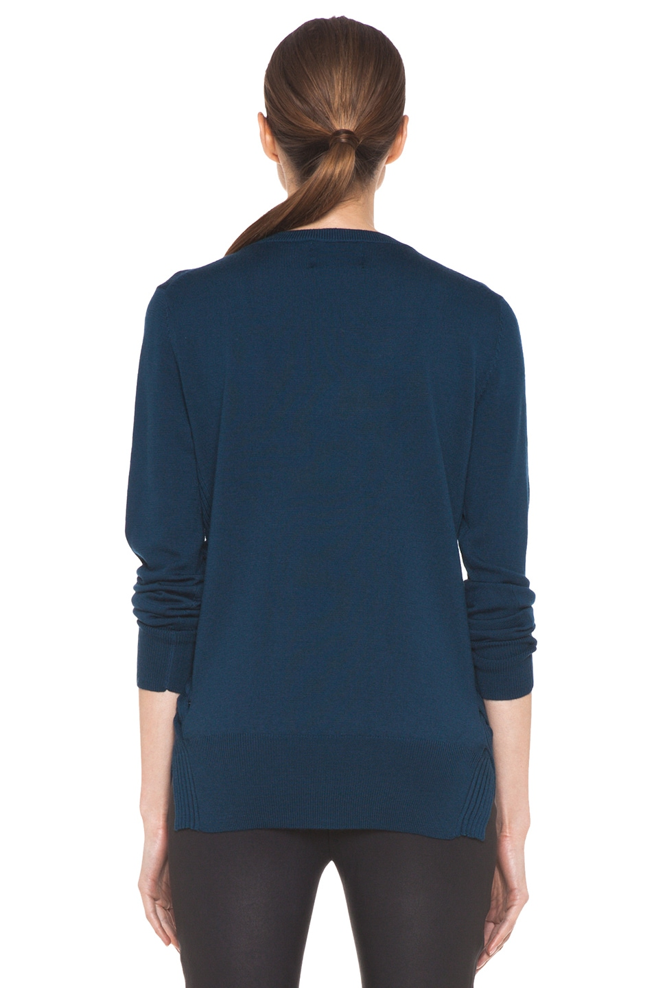 Image 4 of Markus Lupfer Lip Nat Jumper in Teal