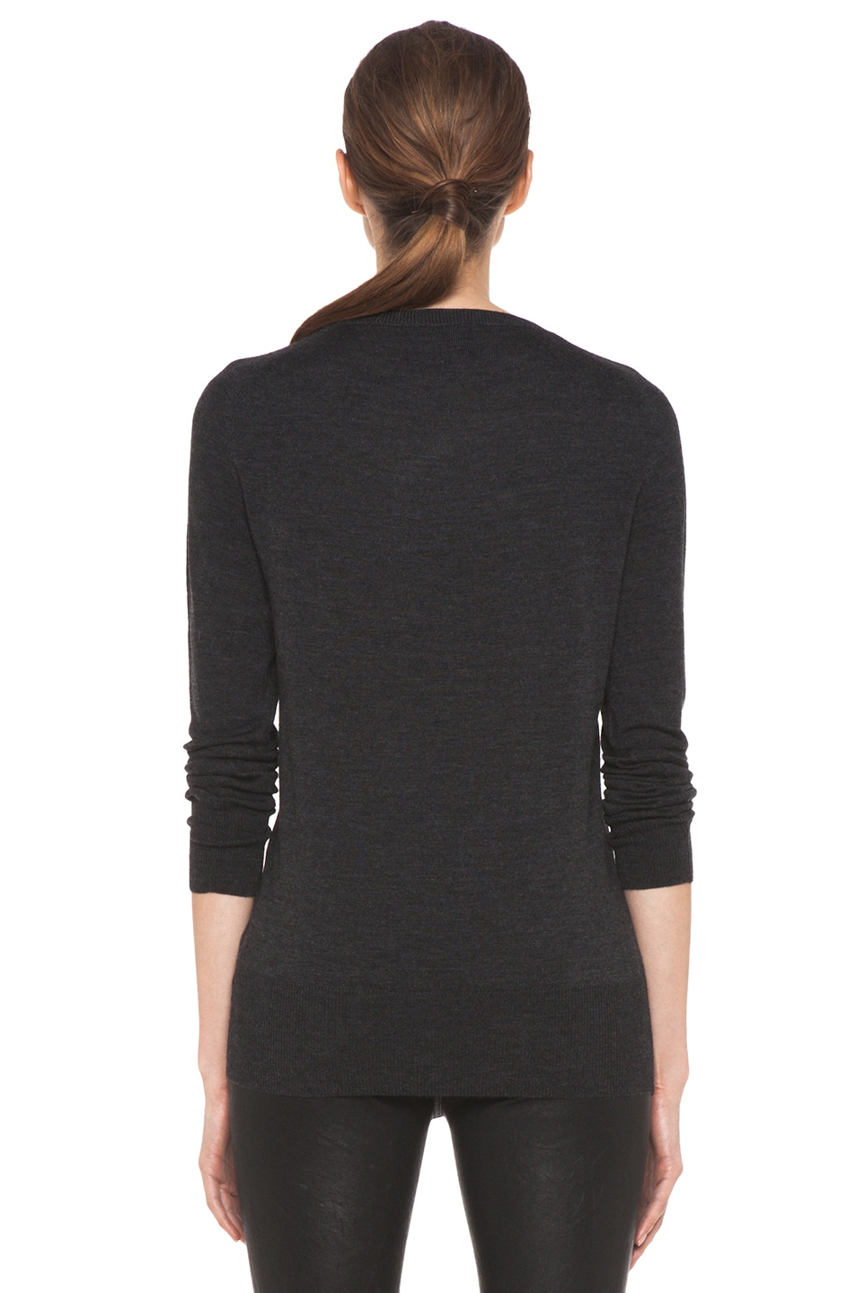 Image 4 of Markus Lupfer Sequin Star Jumper in Charcoal
