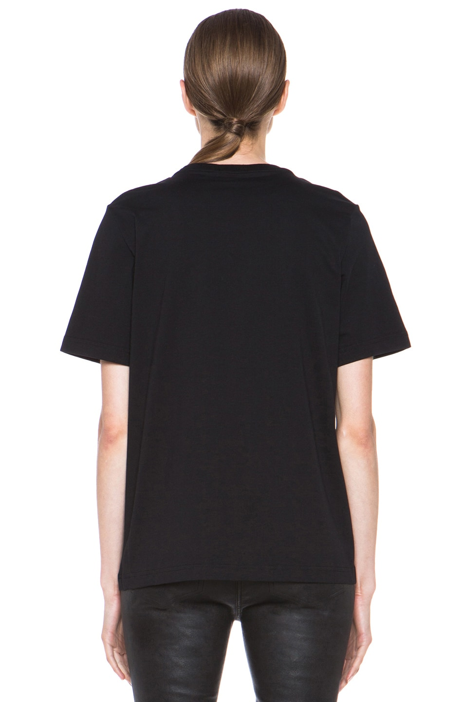 Image 4 of Markus Lupfer Rubber Graphic Lip Cotton Tee in Black & White
