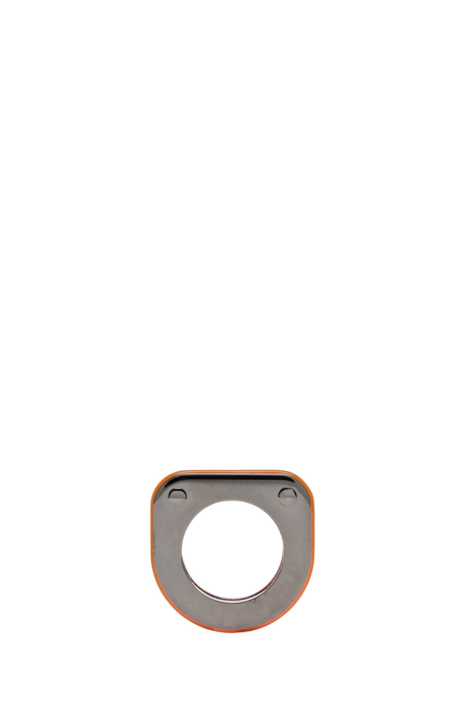 Image 2 of MM6 Maison Margiela Ring in Neon Orange Plexi