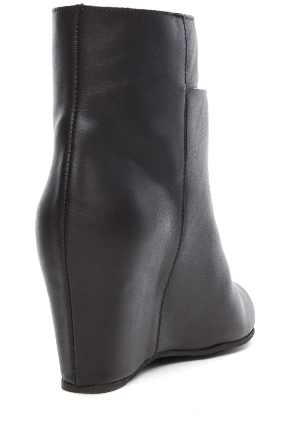 Image 3 of MM6 Maison Margiela Wedge Bootie in Black
