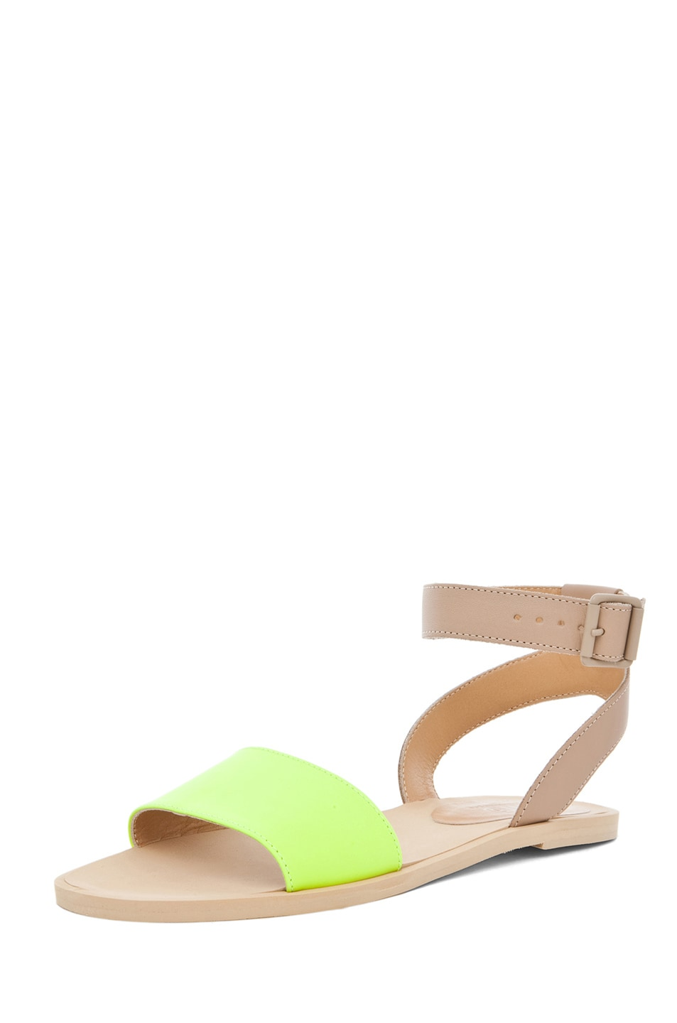Image 2 of MM6 Maison Margiela Ankle Strap Sandal in Yellow & Beige