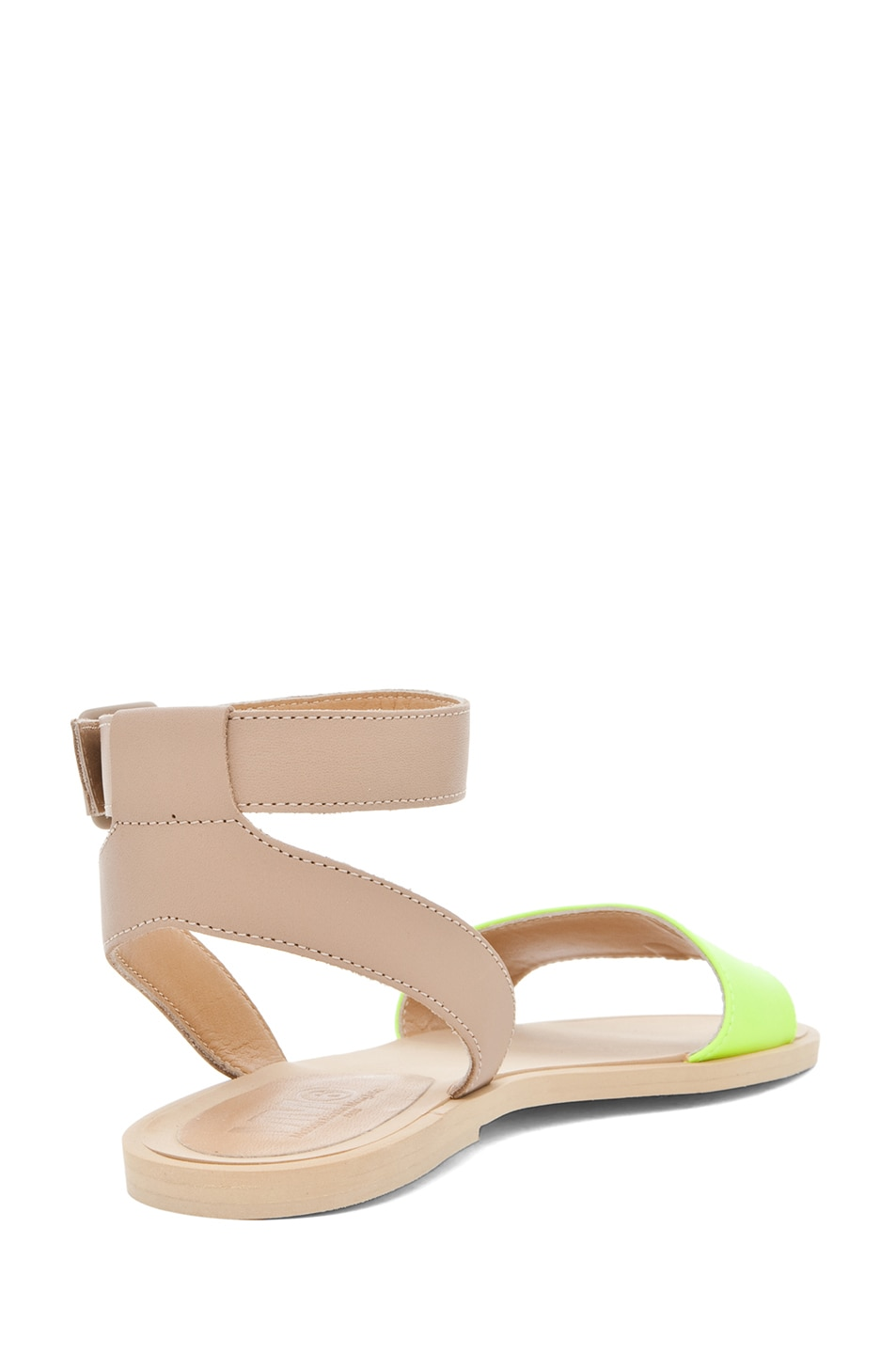 Image 3 of MM6 Maison Margiela Ankle Strap Sandal in Yellow & Beige