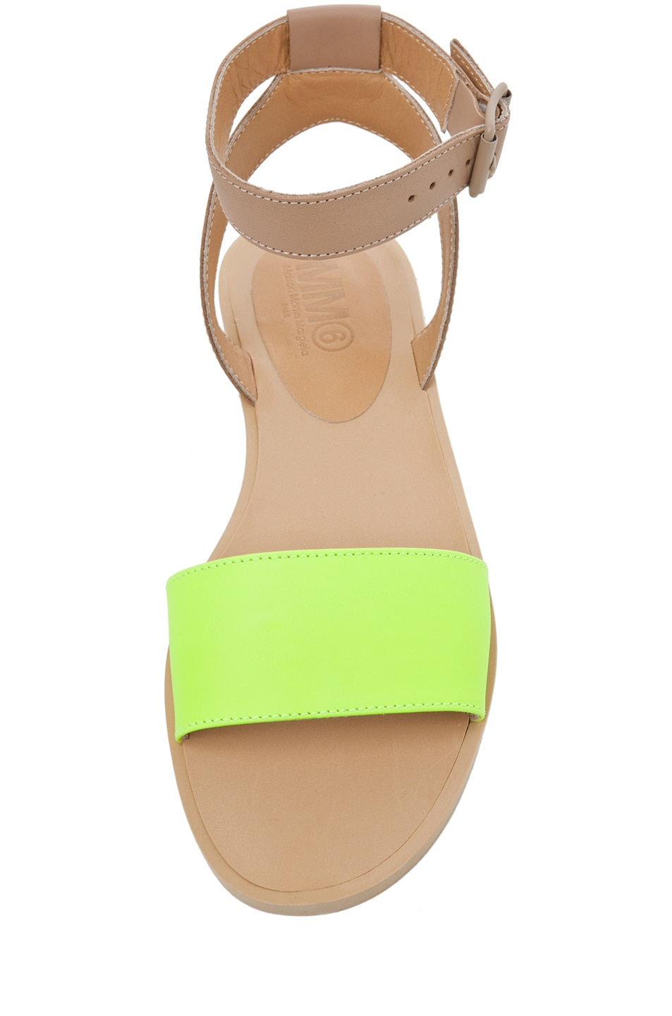 Image 4 of MM6 Maison Margiela Ankle Strap Sandal in Yellow & Beige