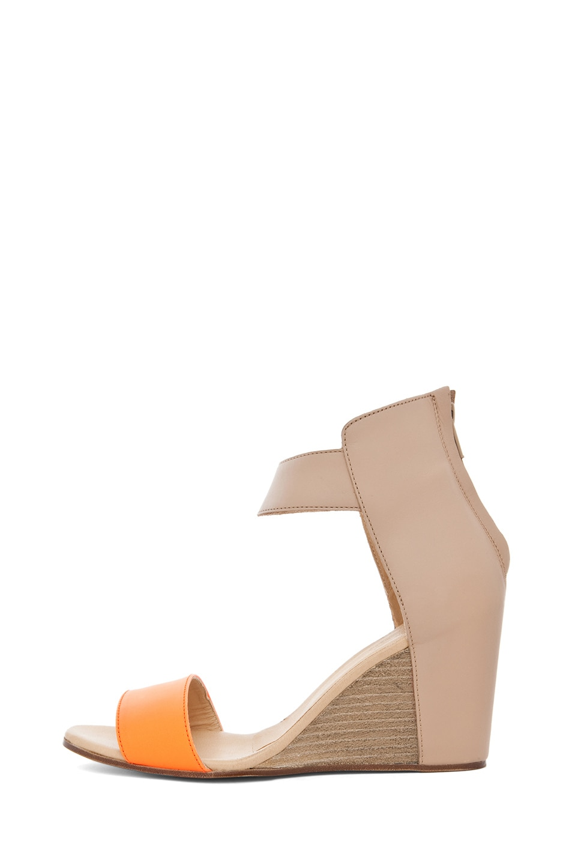 Image 1 of MM6 Maison Margiela Sandal Wedge in Orange & Beige