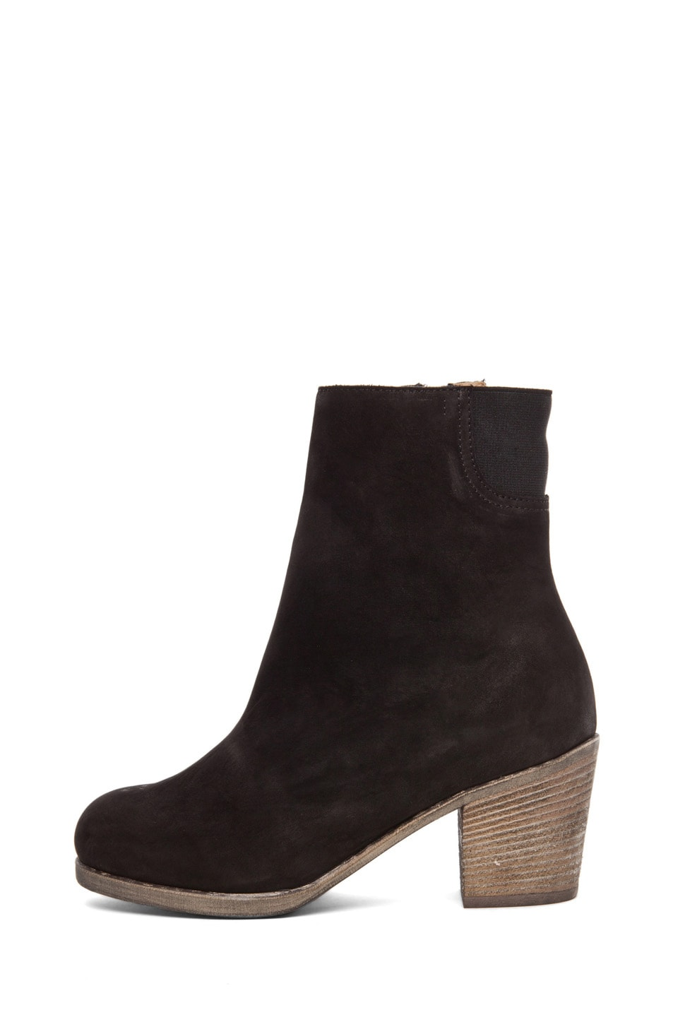 Image 1 of MM6 Maison Margiela Leather Bootie in Black
