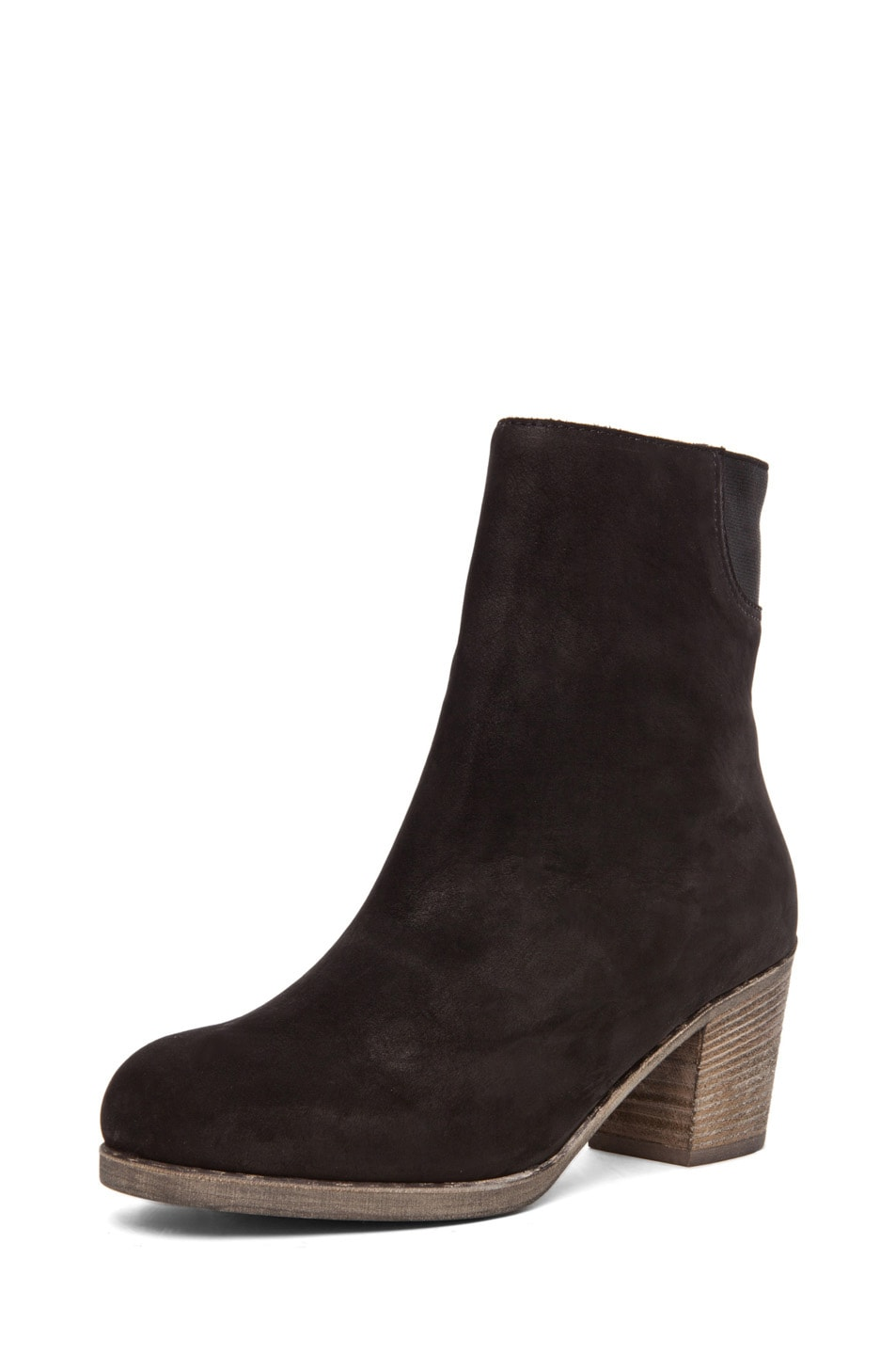 Image 2 of MM6 Maison Margiela Leather Bootie in Black
