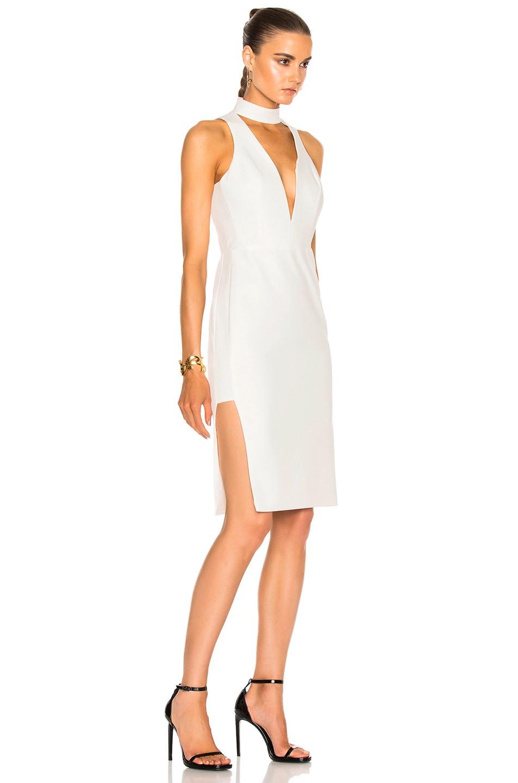 Image 3 of Michelle Mason Choker Plunge Dress in Ivory