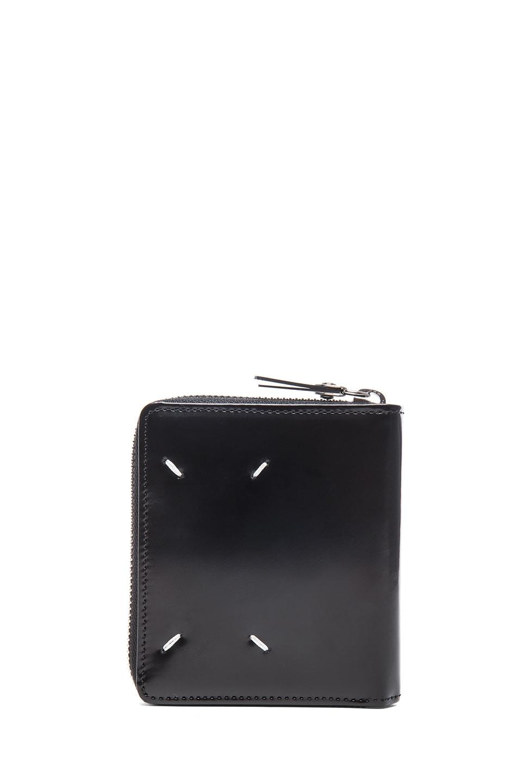 Maison Margiela Zip Wallet In Black
