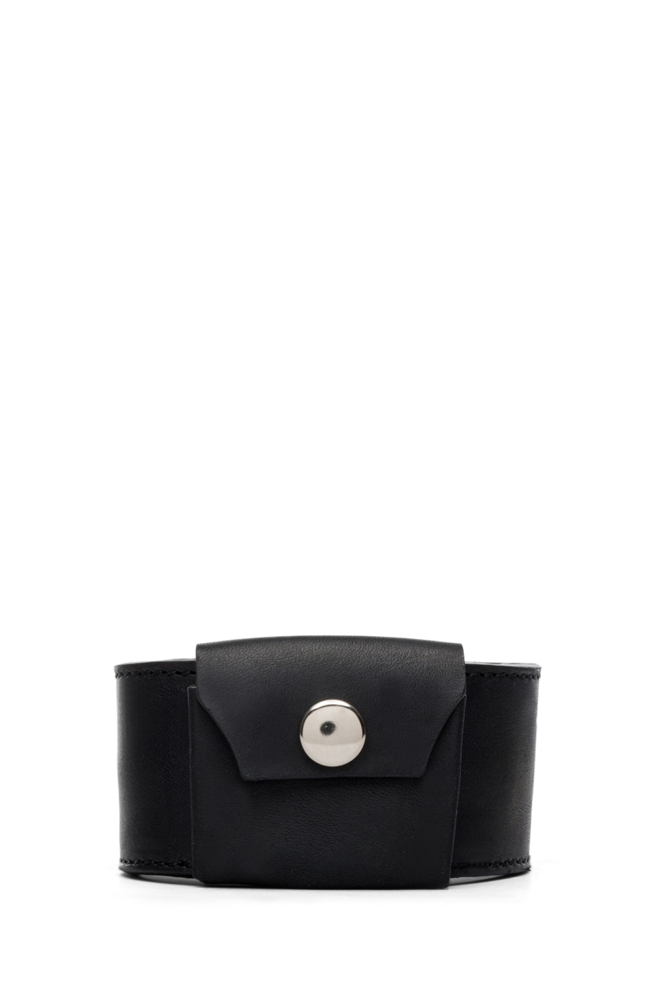 Image 1 of Maison Margiela Pouch Bracelet in Black