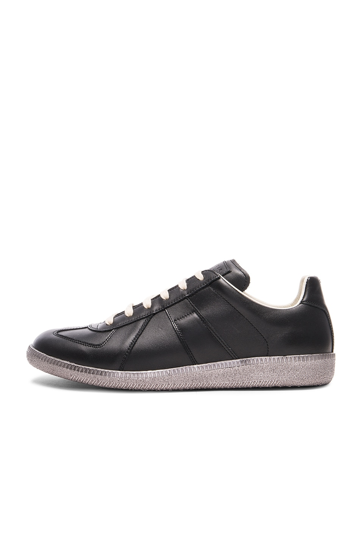 maison martin margiela maison margiela men 39 s black replica sneakers black gunmetal modesens. Black Bedroom Furniture Sets. Home Design Ideas