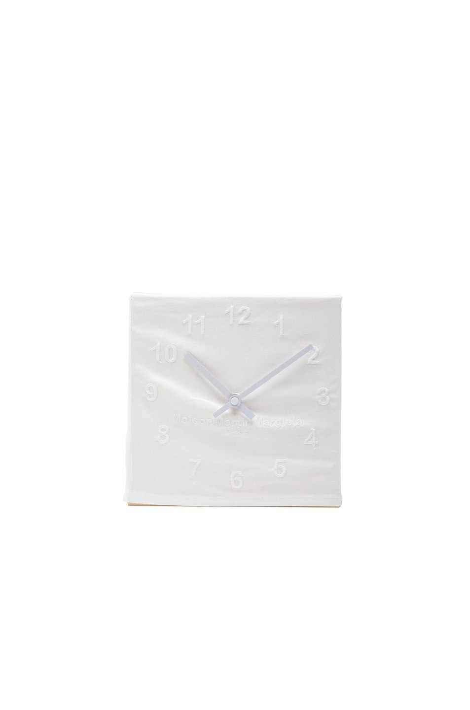 Image 1 of Maison Margiela Embroidered Clock in White