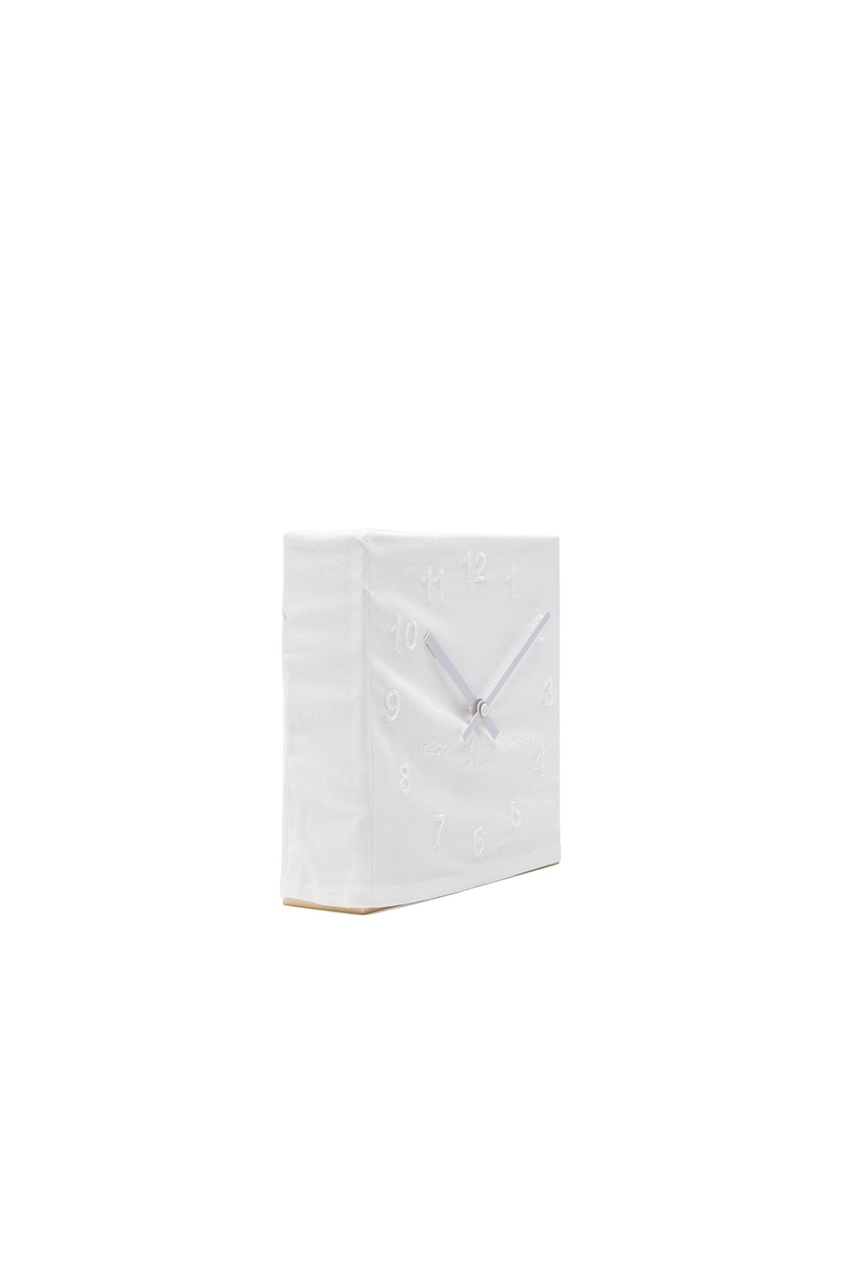 Image 3 of Maison Margiela Embroidered Clock in White