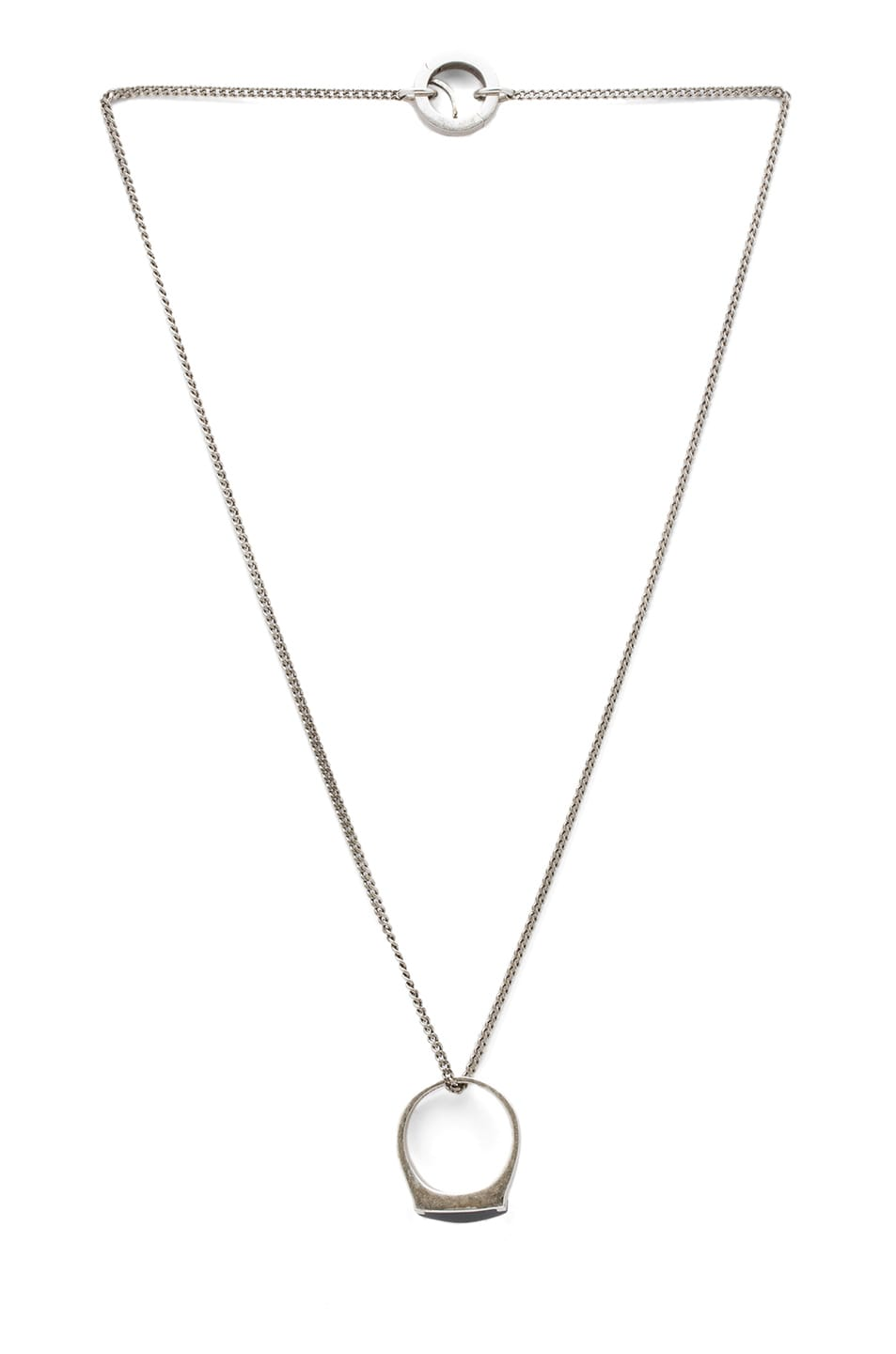 Image 1 of Maison Margiela Brass Necklace in Silver