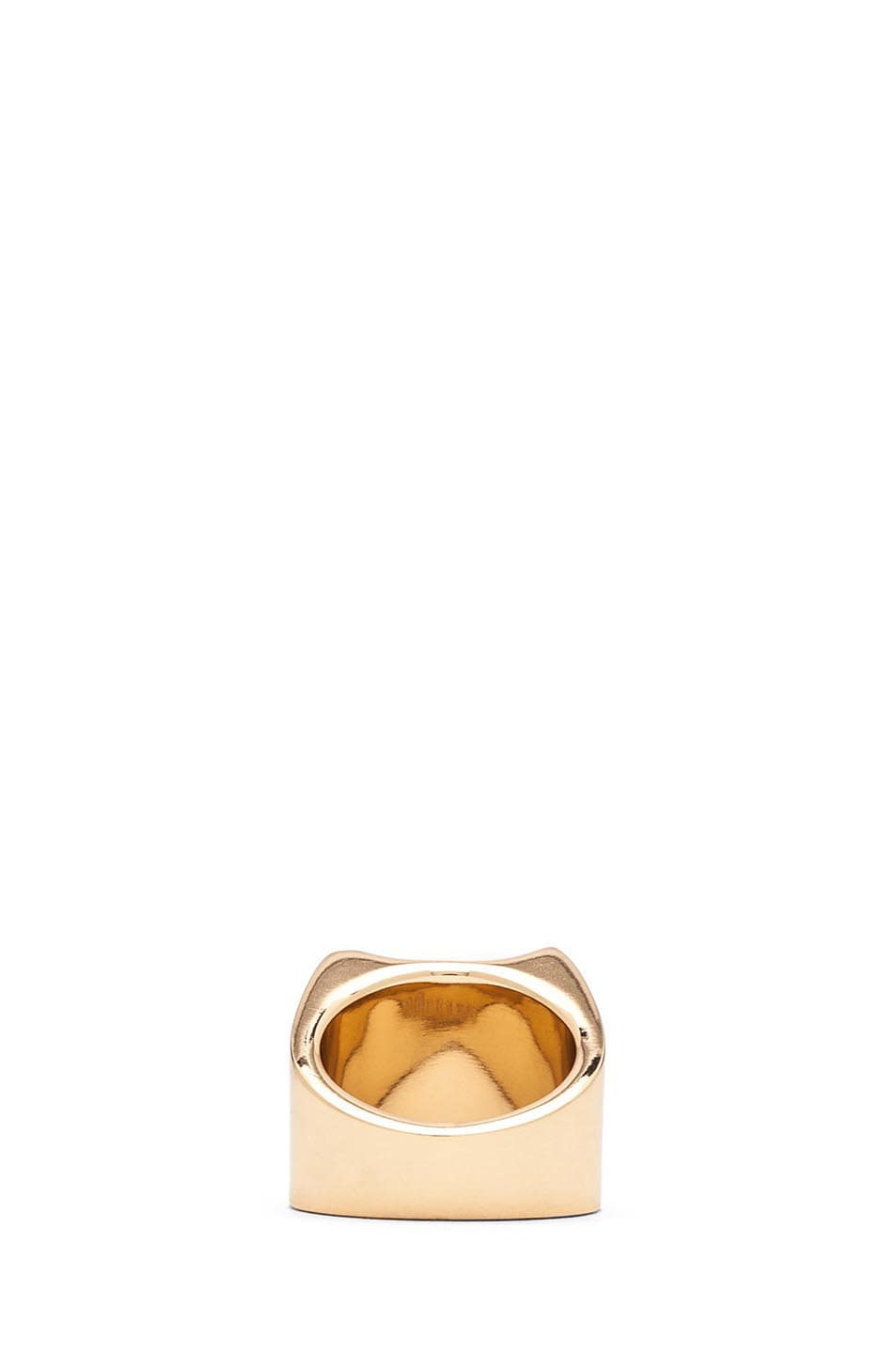 Image 3 of Maison Margiela Brass Ring in Gold