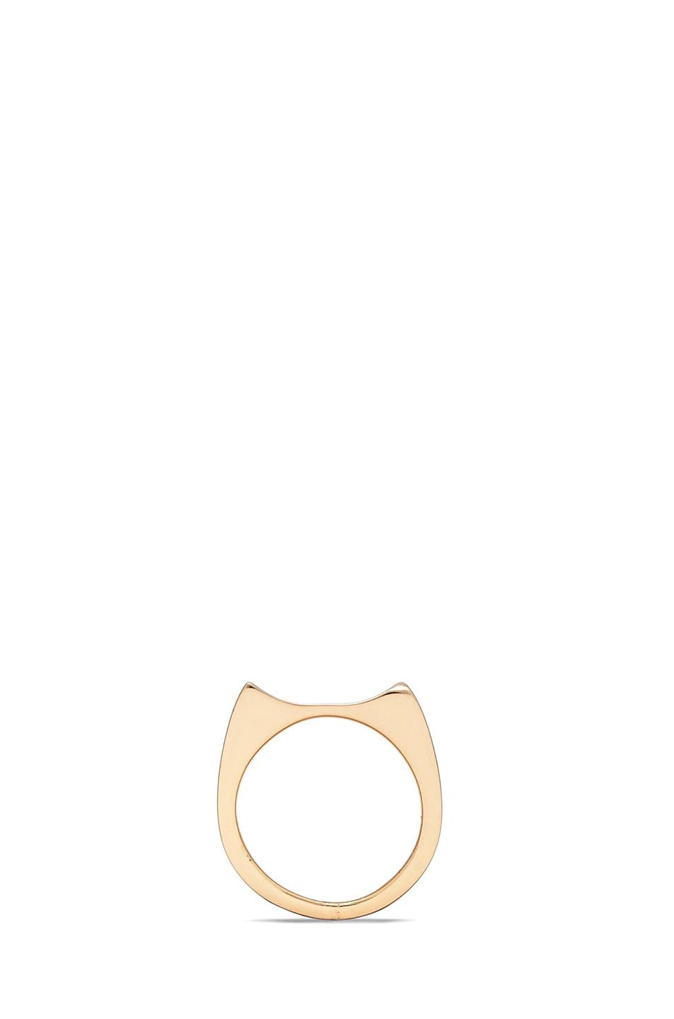 Image 4 of Maison Margiela Brass Ring in Gold