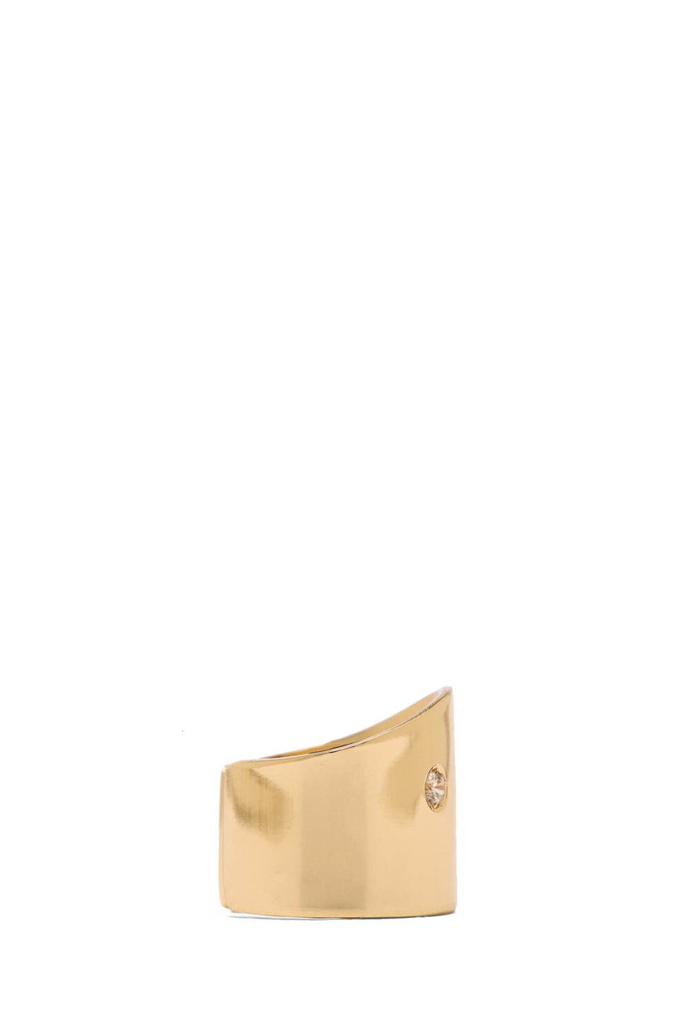 Image 2 of Maison Margiela Brass Pinky Ring in Gold