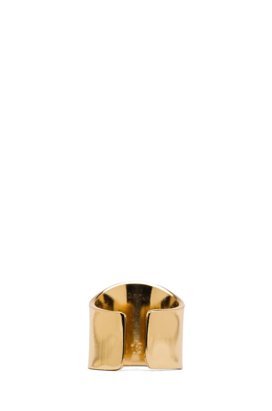 Image 3 of Maison Margiela Brass Pinky Ring in Gold