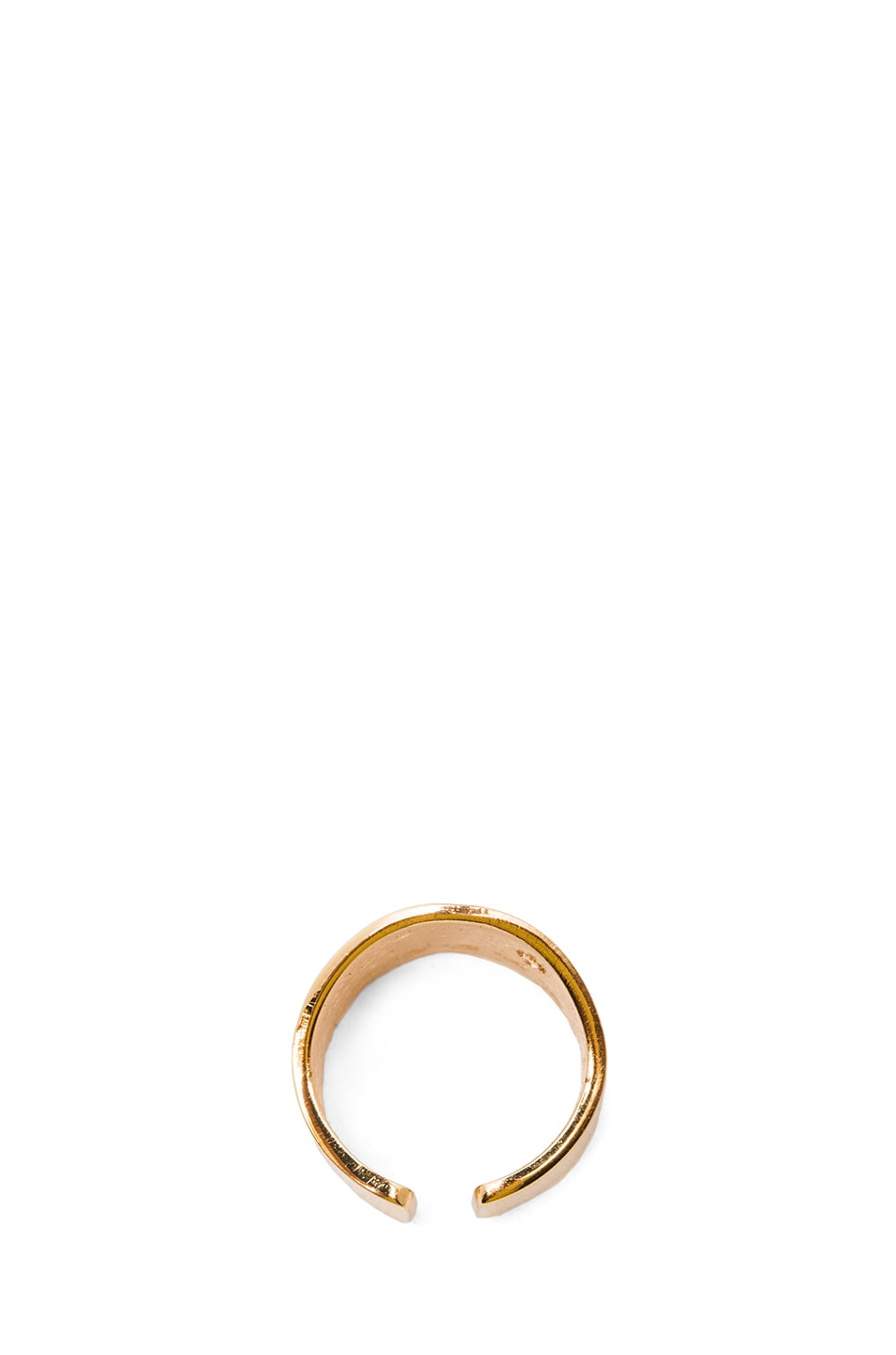 Image 4 of Maison Margiela Brass Pinky Ring in Gold