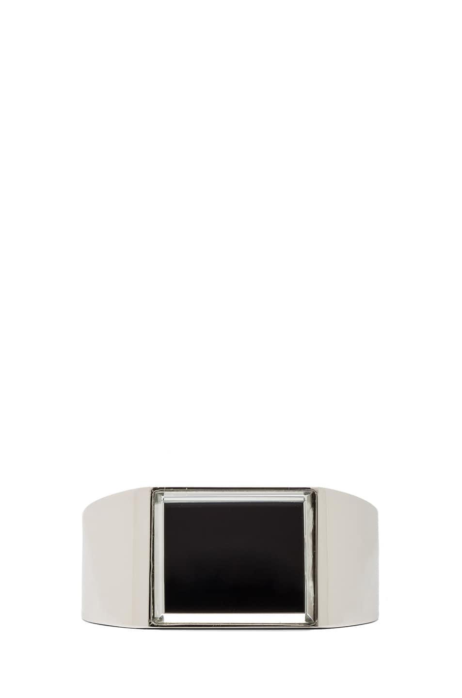 Image 1 of Maison Margiela Mirrored Brass Cuff in Silver