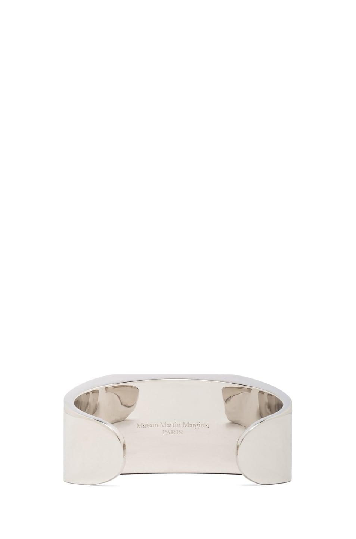 Image 3 of Maison Margiela Mirrored Brass Cuff in Silver