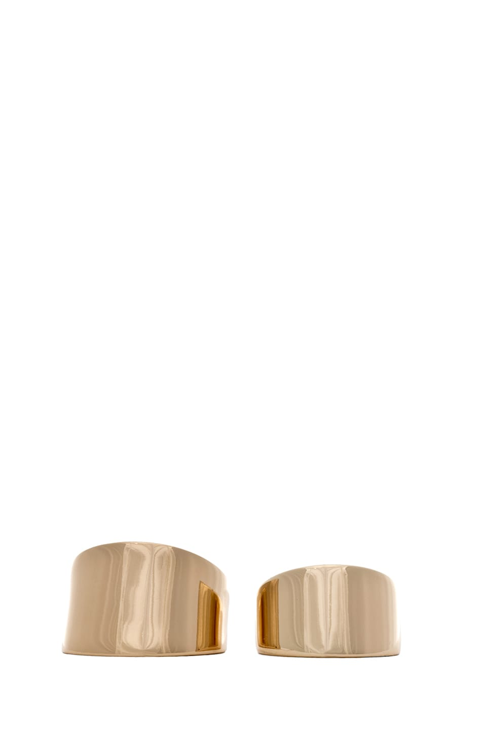 Image 1 of Maison Margiela Set of 2 Rings in Gold