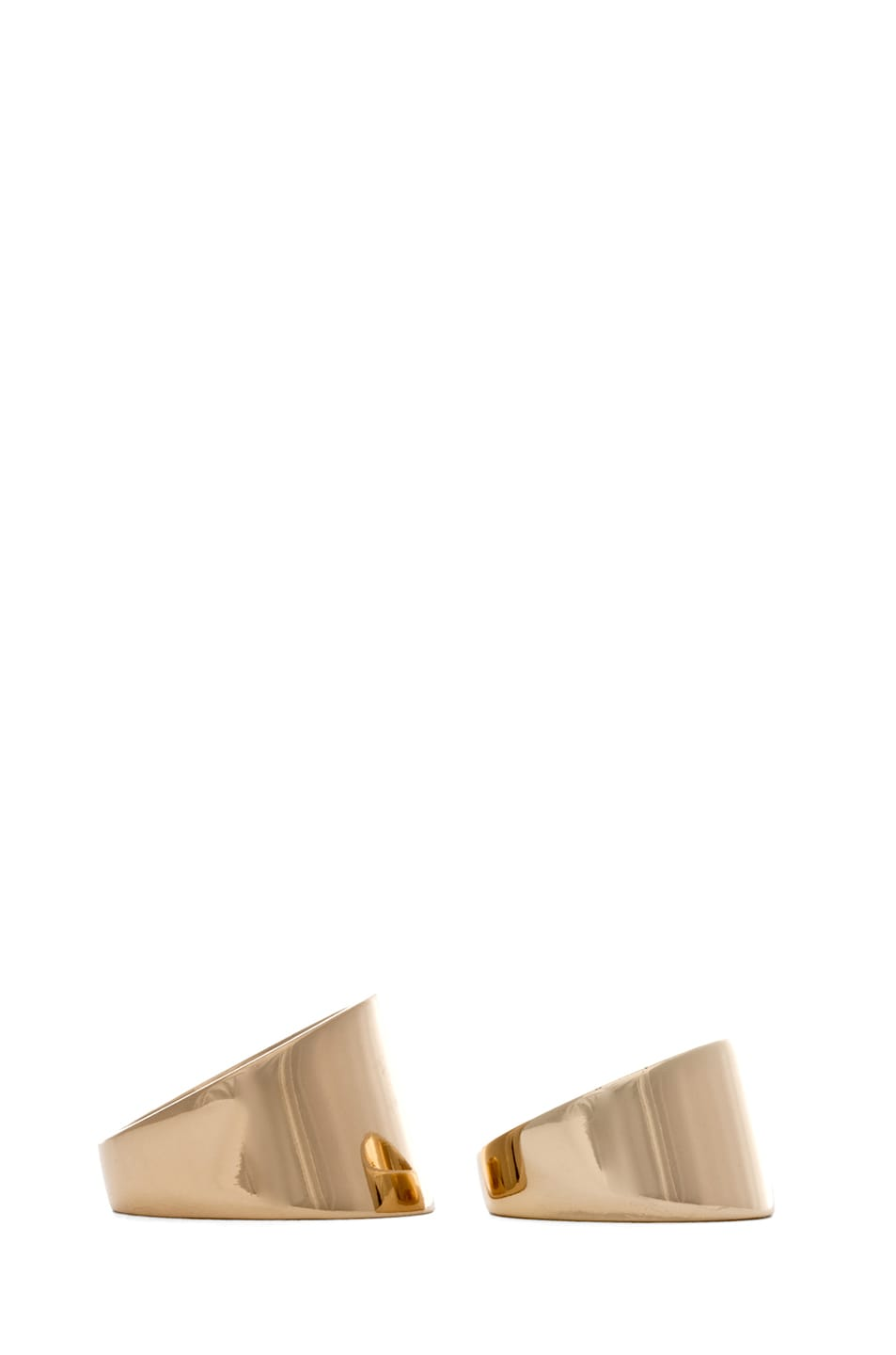 Image 2 of Maison Margiela Set of 2 Rings in Gold