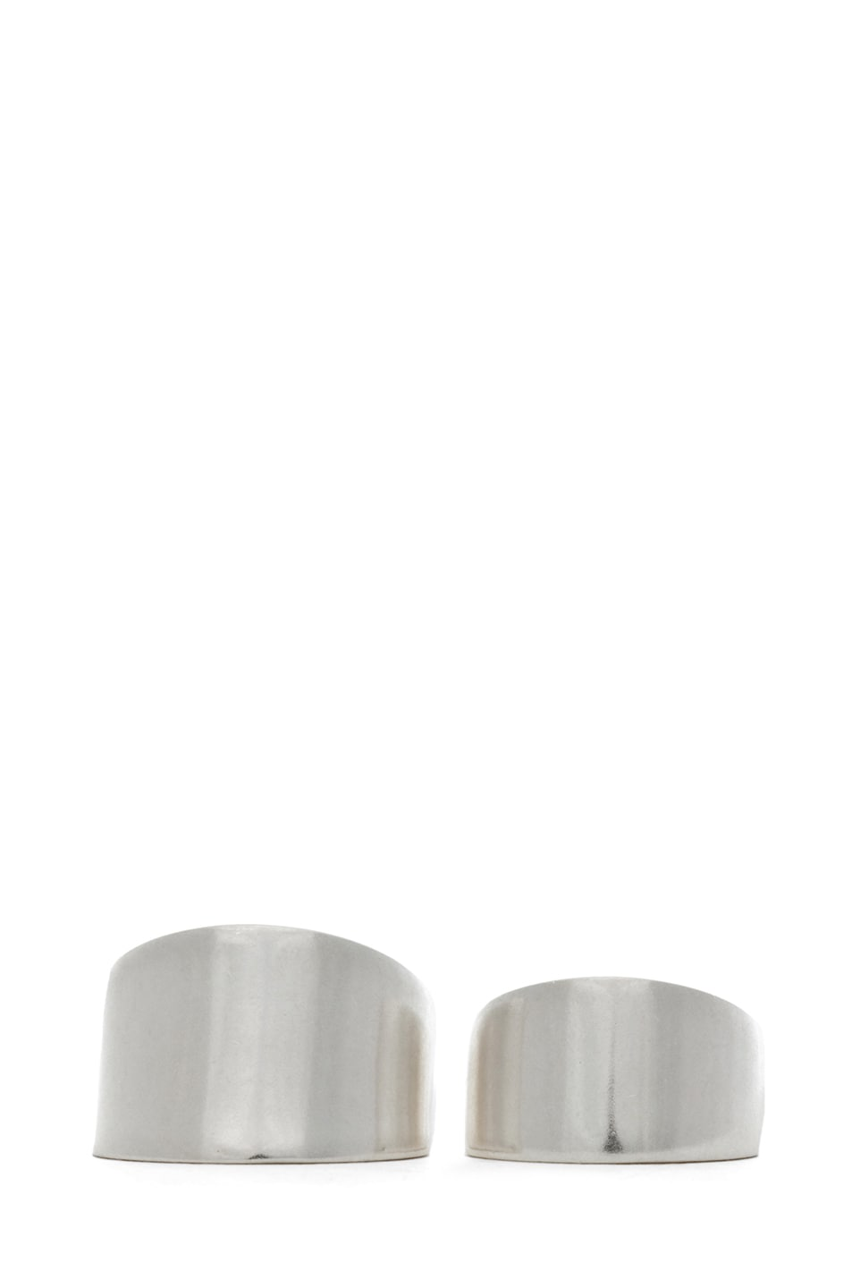 Image 1 of Maison Margiela Set of 2 Rings in Silver