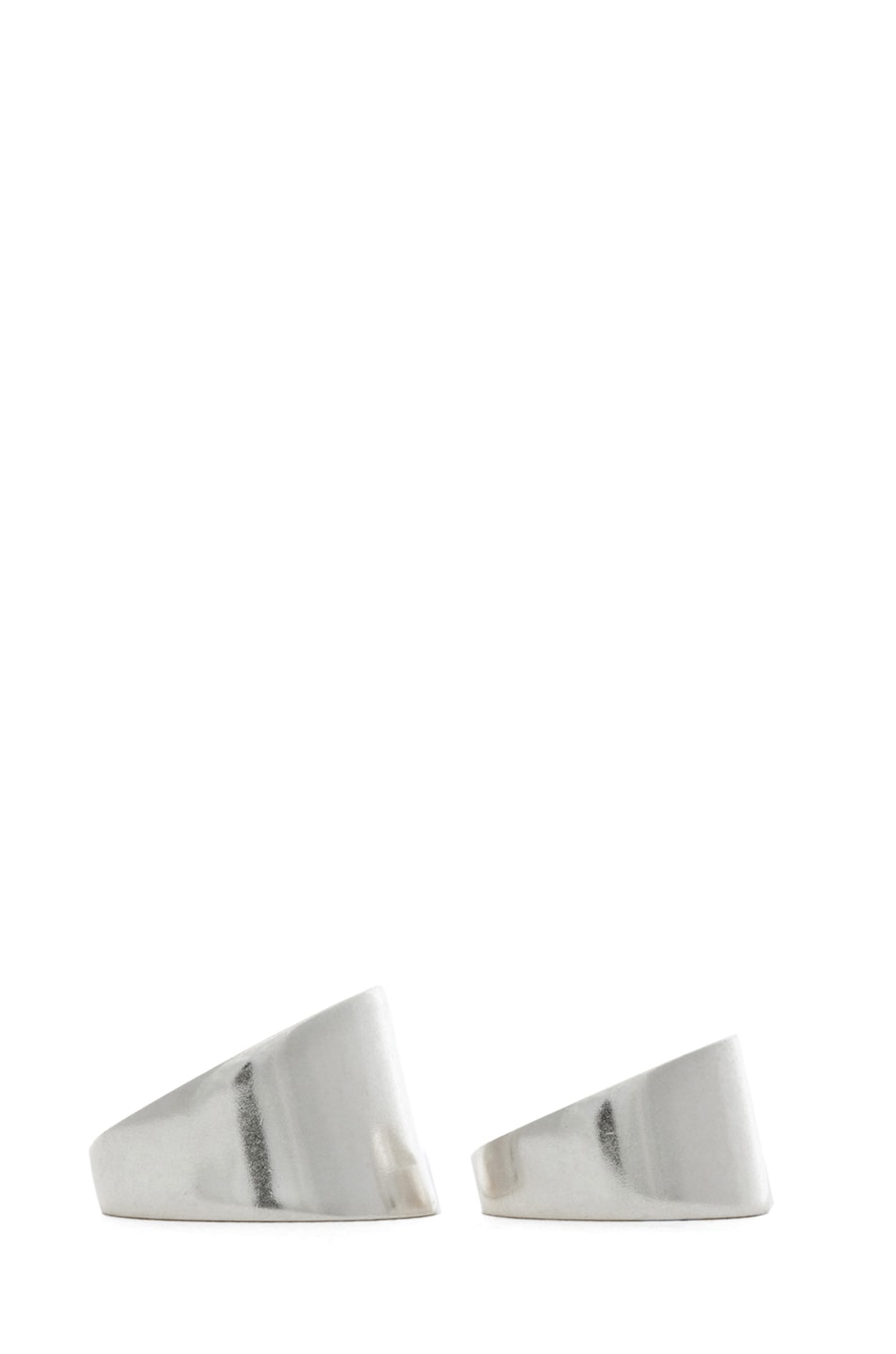 Image 2 of Maison Margiela Set of 2 Rings in Silver