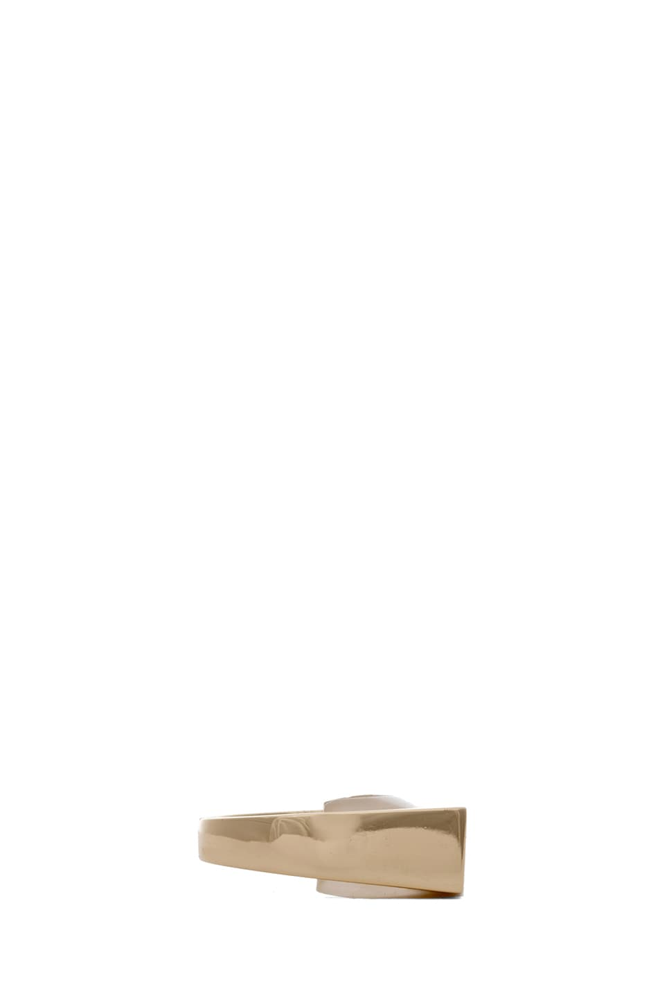 Image 2 of Maison Margiela Square Brass Ring in Gold