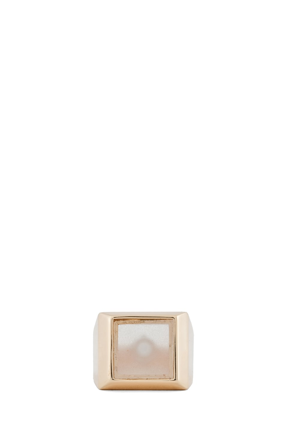 Image 1 of Maison Margiela Small Hidden Gem Ring in Gold & Cream