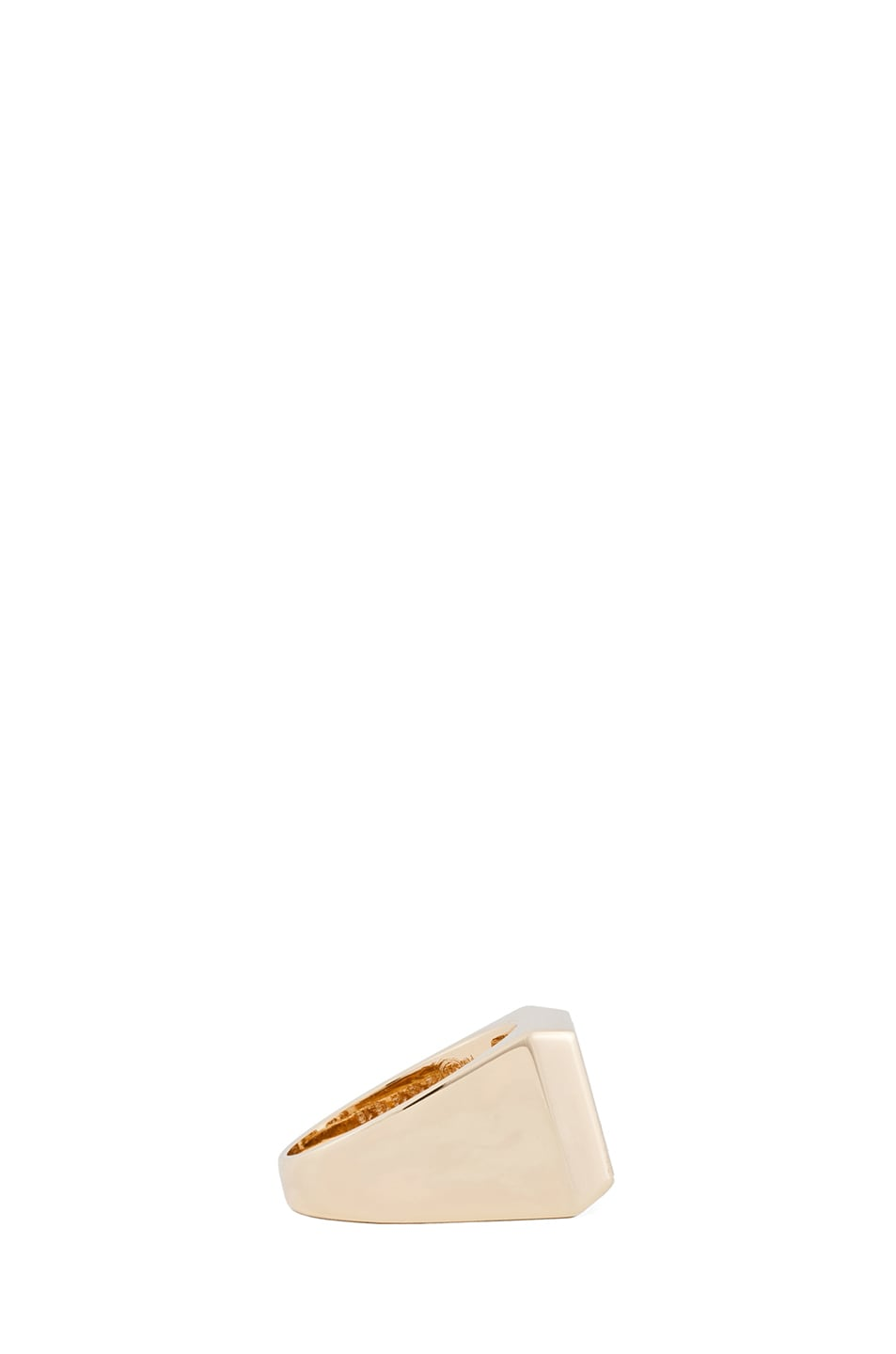 Image 2 of Maison Margiela Small Hidden Gem Ring in Gold & Cream
