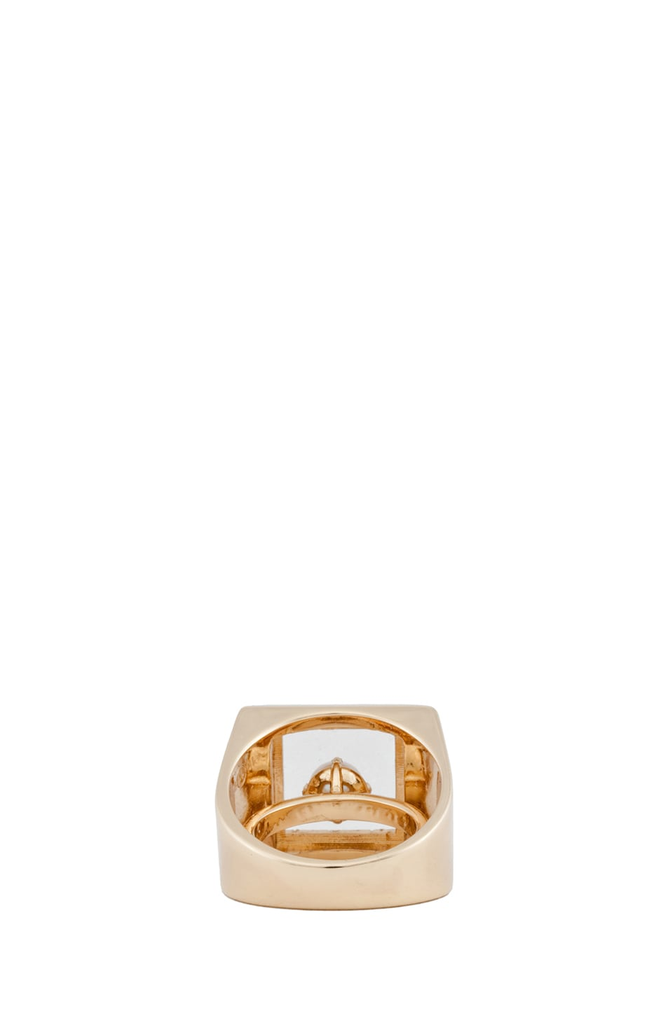 Image 3 of Maison Margiela Small Hidden Gem Ring in Gold & Cream
