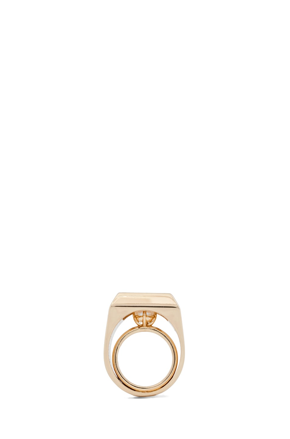 Image 4 of Maison Margiela Small Hidden Gem Ring in Gold & Cream