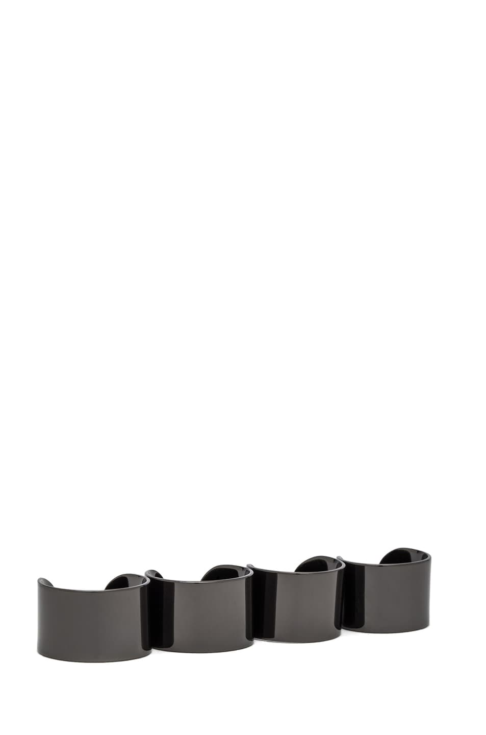 Image 1 of Maison Margiela Ring Set in Gunmetal