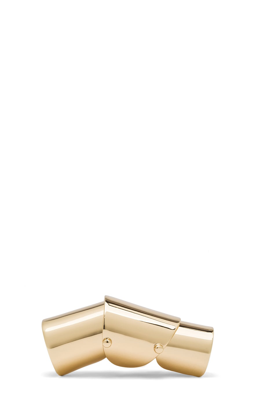 Image 1 of Maison Margiela Finger Brass Ring in Gold