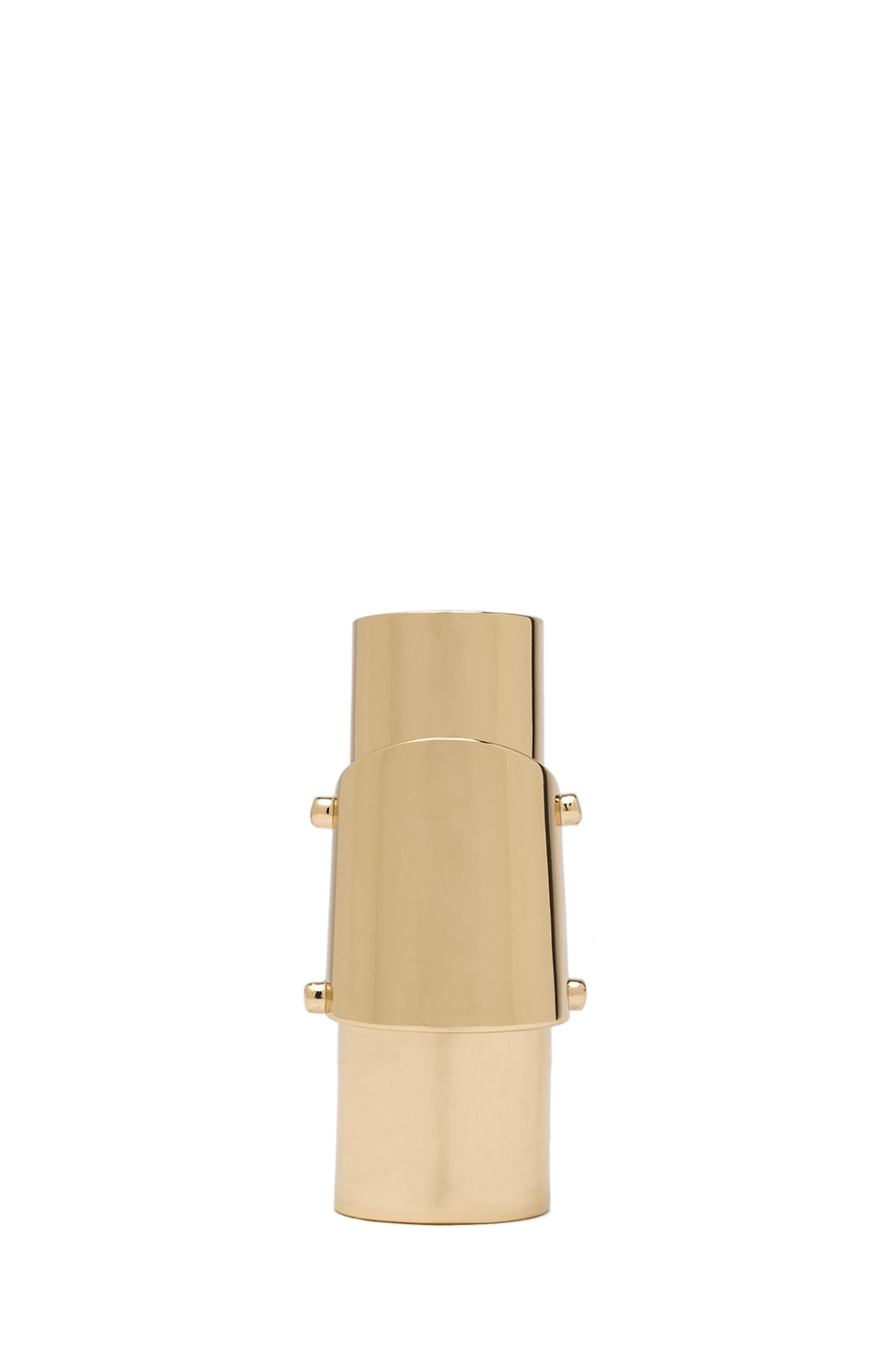 Image 2 of Maison Margiela Finger Brass Ring in Gold