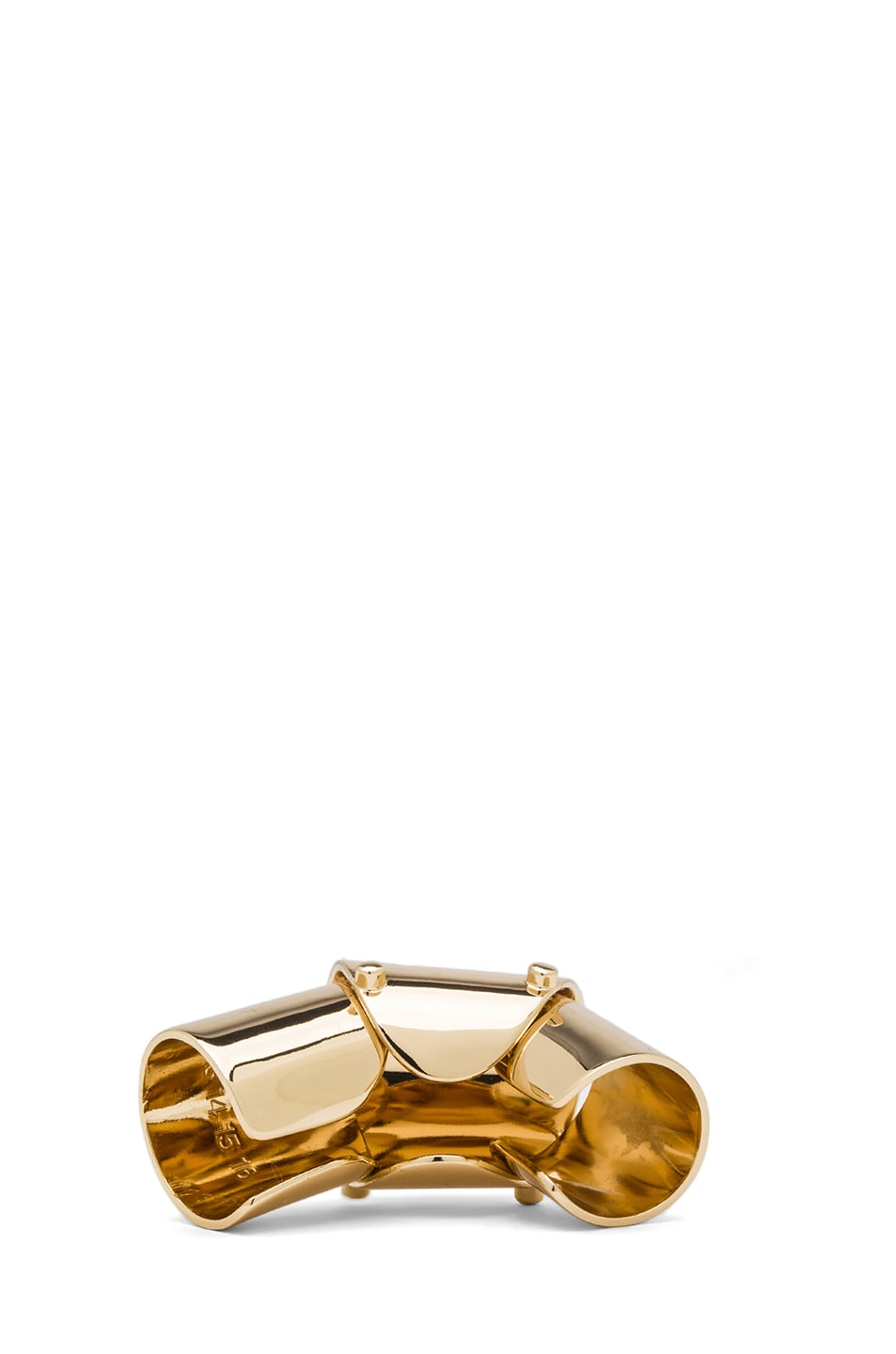 Image 5 of Maison Margiela Finger Brass Ring in Gold