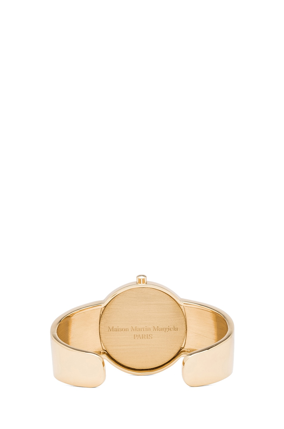 Image 3 of Maison Margiela Brass Cuff with Medallion in Gold