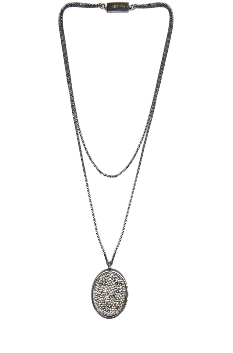 Image 1 of Maison Margiela Pendant Necklace in Gunmetal