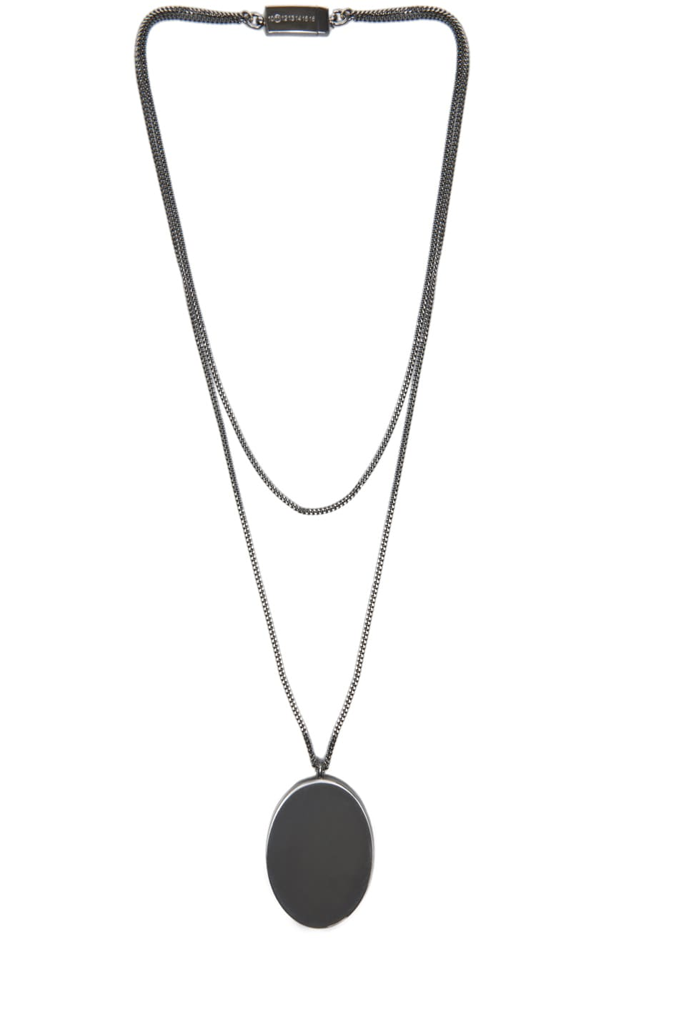 Image 2 of Maison Margiela Pendant Necklace in Gunmetal