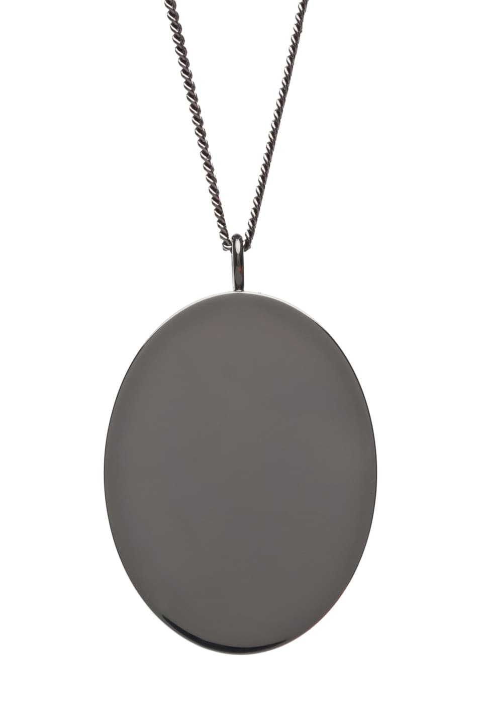 Image 4 of Maison Margiela Pendant Necklace in Gunmetal