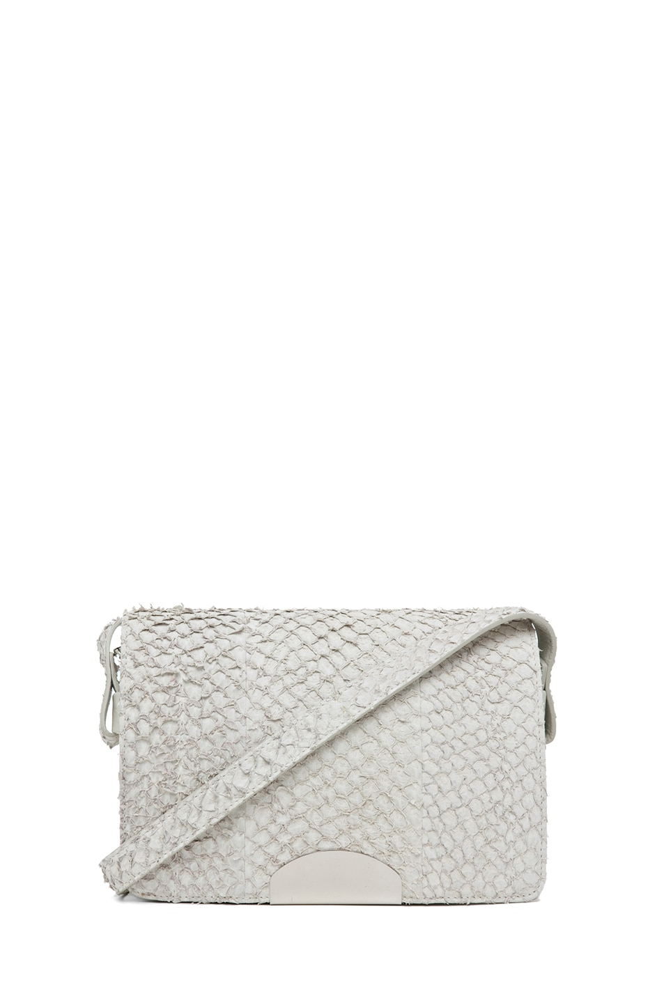Image 1 of Maison Margiela Perch Fish Flap Over Shoulder Bag in Light Grey