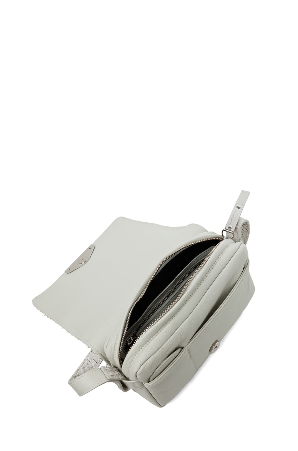 Image 4 of Maison Margiela Perch Fish Flap Over Shoulder Bag in Light Grey