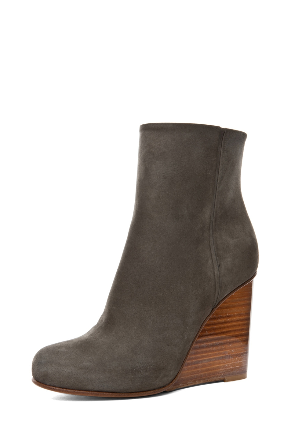 Image 2 of Maison Margiela New Plexi Wedge Bootie in Sage